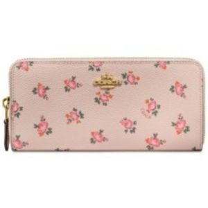COACH Accordion Zip Wallet With Floral Bloom